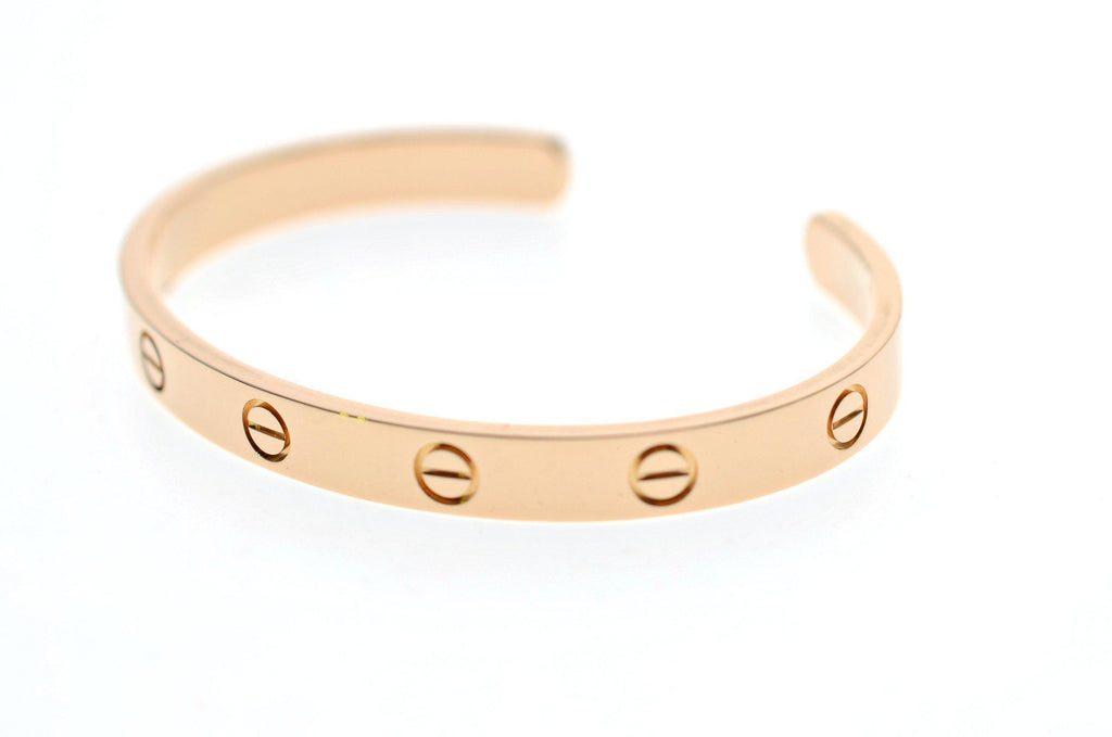 Cartier Love Cuff Bracelet Rose Gold Size 18cm