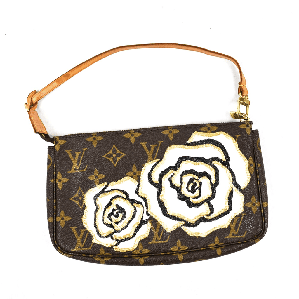 Vintage Louis Vuitton Pouchette with Vintage Contessa Flower
