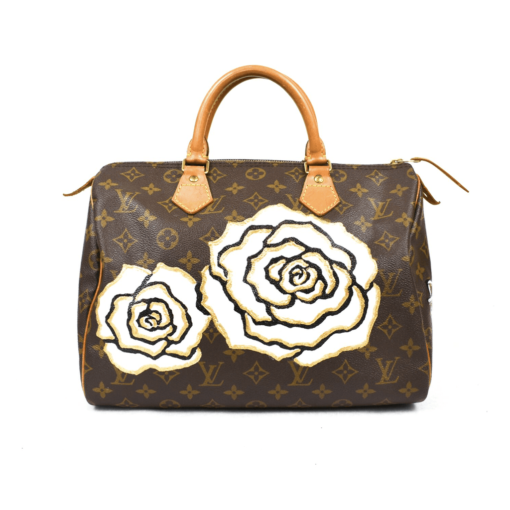 Vintage Louis Vuitton 30cm Speedy with Vintage Contessa Flower