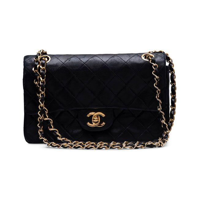 809d5826d794 Chanel Lambskin Quilted Small Double Flap Black – The Vintage ...