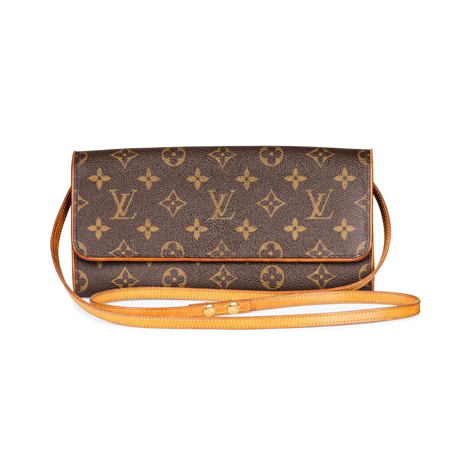 dd7d4de16430 Louis Vuitton Monogram Pochette Twin Cross body Bag. – The Vintage Contessa    Times Past