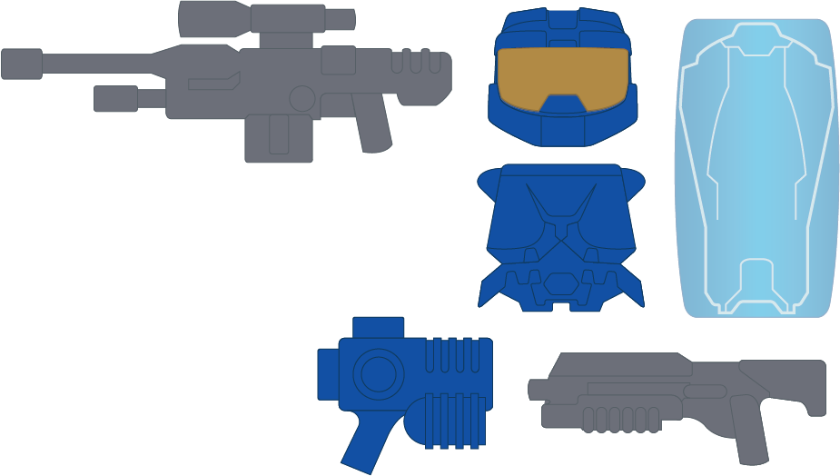 * Powered Assault Commando - Blue