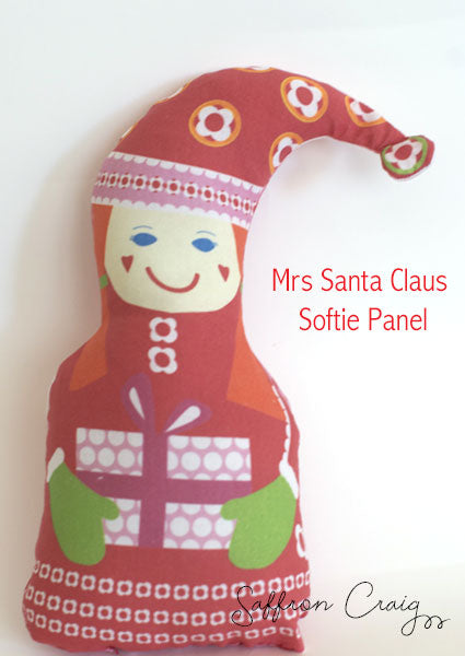 Saffron Craig Christmas Craft Panel Mr and Mrs Clause