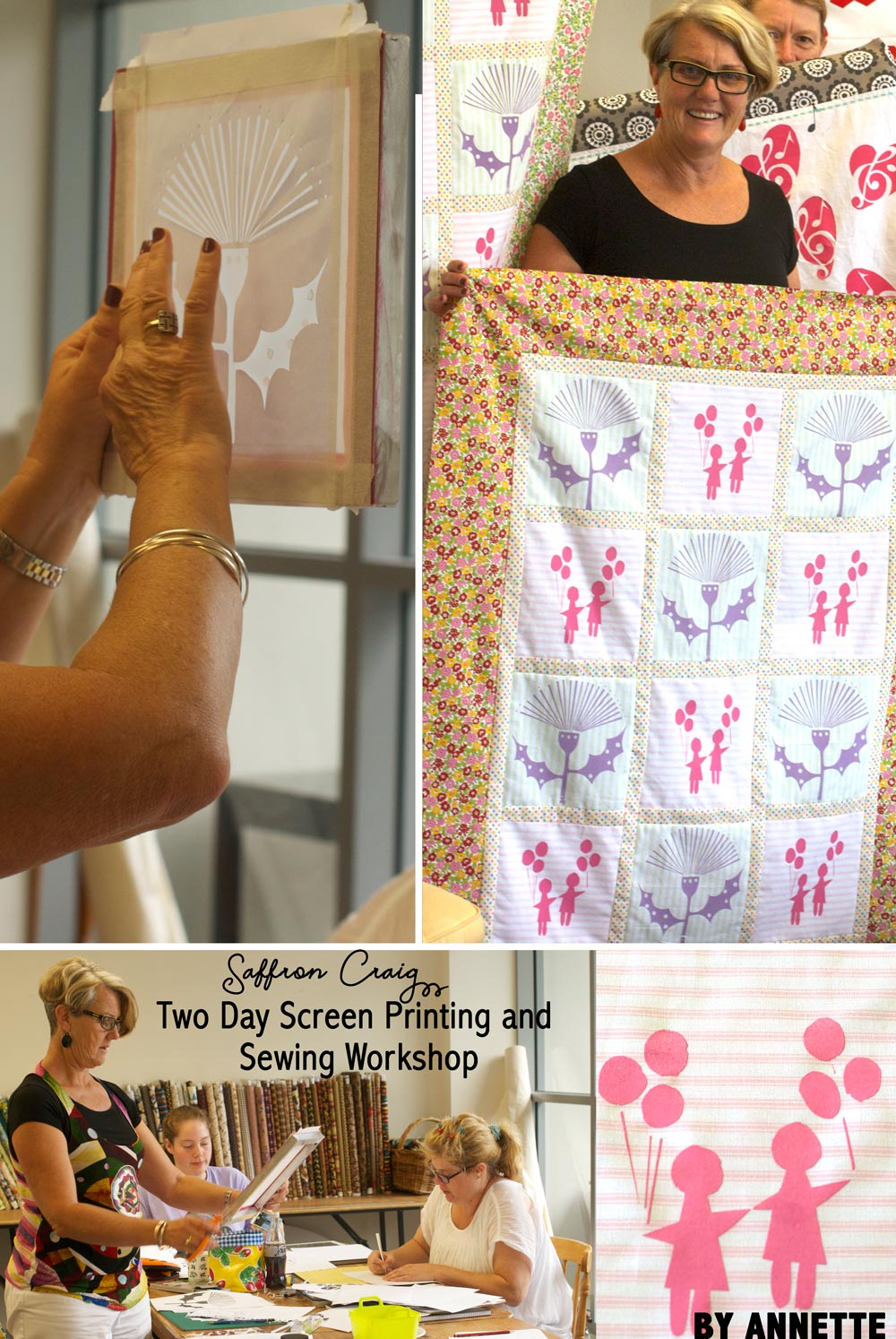 Saffron Craig 2 Day Workshop including Fabric Design and Sewing