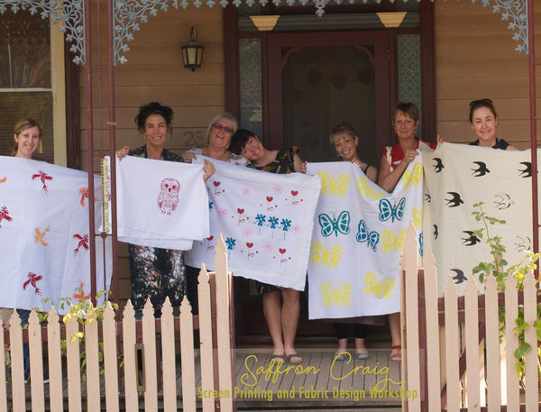 Saffron Craig Screen Printing and Fabric Design Workshops Bendigo