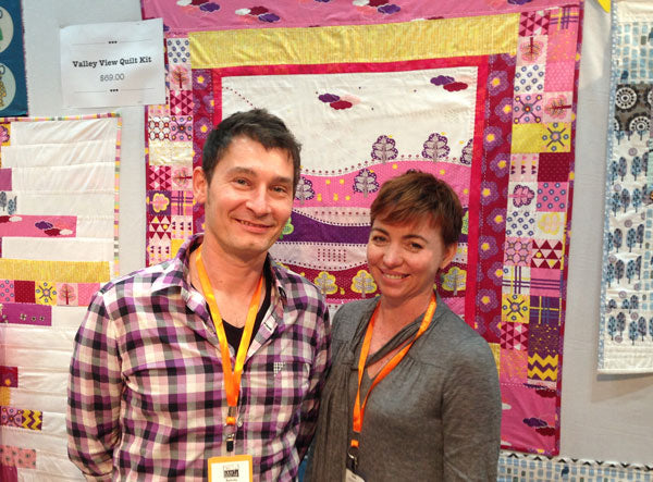 Craft and quilting fair 2013 Saffron Craig and Patrick Visser