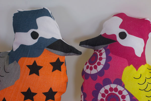 Saffron Craig Kookaburra Softie make your own in bright happy colours.