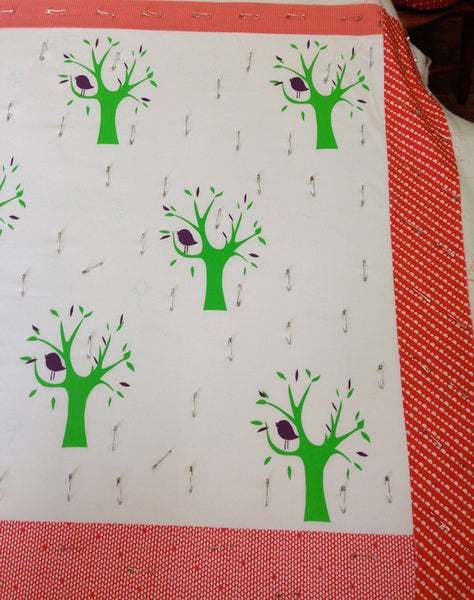 Saffron Craig Screen print workshop trees print