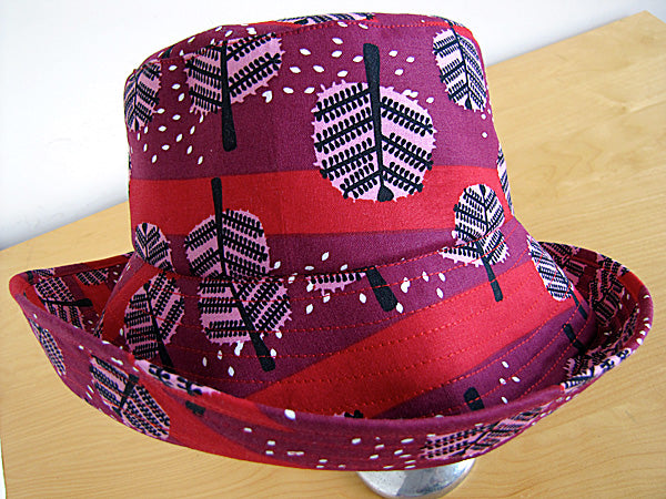 Saffron Craig Cherry Woods fabric Hat by YOu Sew Girl