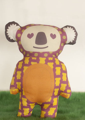 Koala Softie in colourful pinks