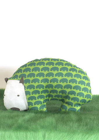 Funky Wombat Softie in lush greens