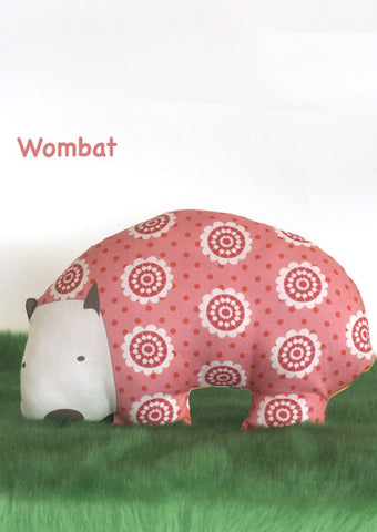 Funky Wombat Softie in colourful pinks