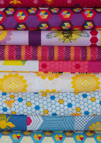 Bees Please fabric bundle by Saffron Craig