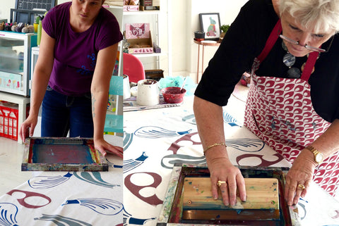Screen Printing and Fabric Design Workshop Sydney March 2017