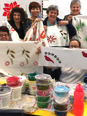 Screen Printing and Fabric Design Workshop Sydney