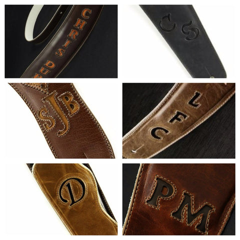 Custom Guitar Strap options
