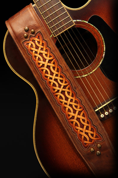 Celtic Nation Guitar Strap | Leather