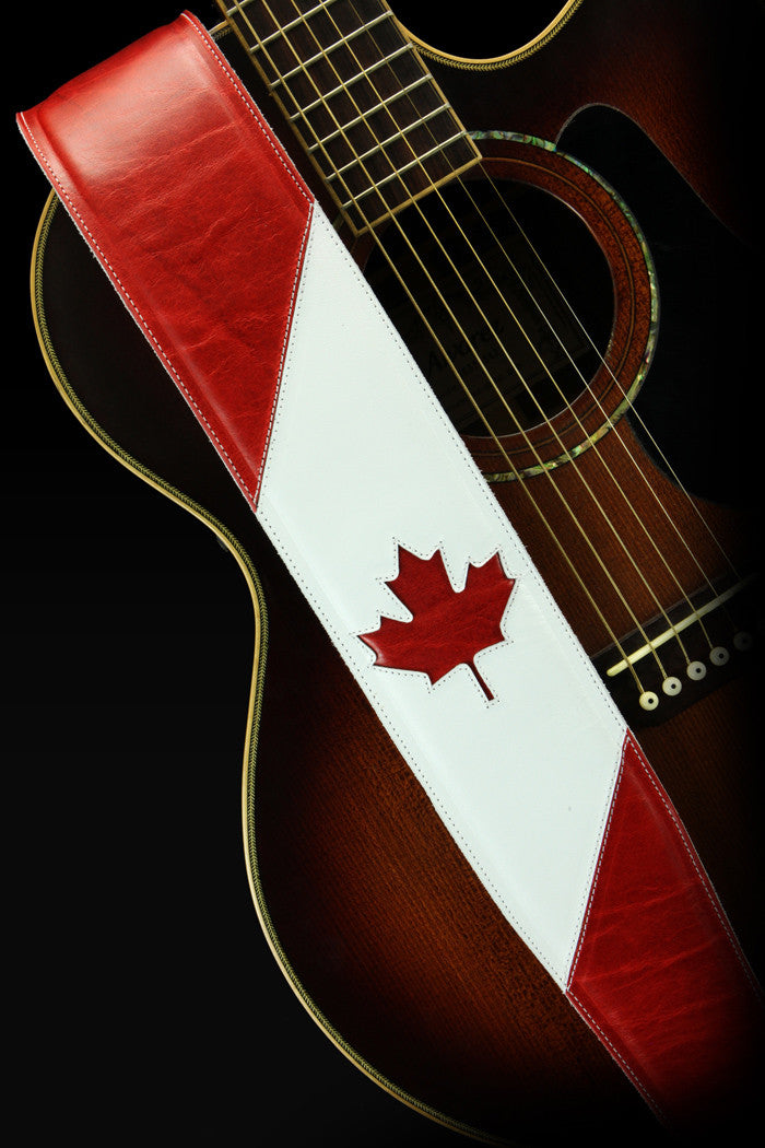 Maple Leaf Guitar Strap