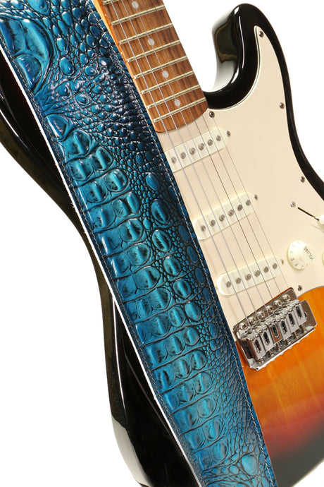 Zephyr (Turquoise Dragon) Guitar Strap