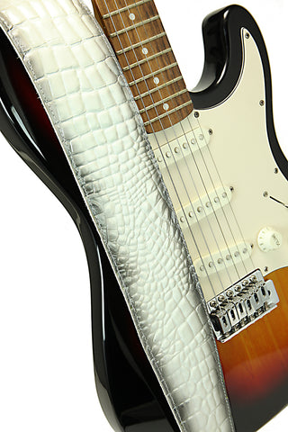 Cognac Run Guitar Strap (Square End)