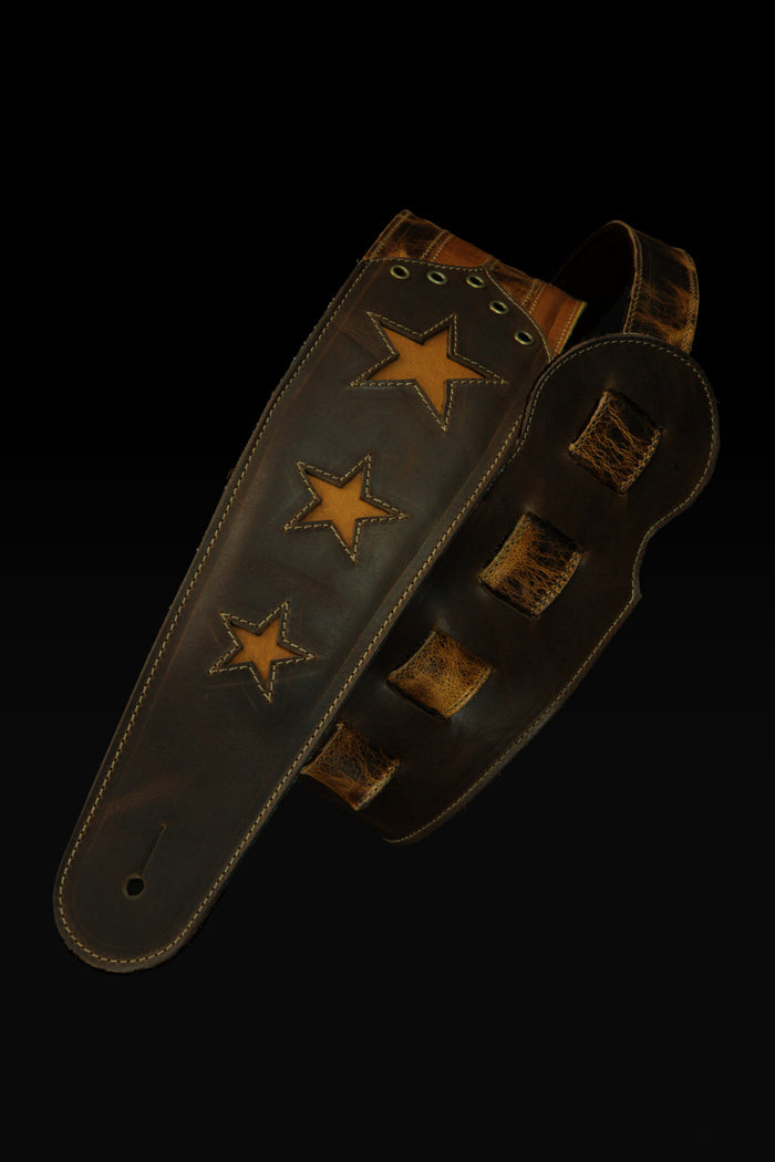 Old Glory - Rustic Gold Guitar Strap