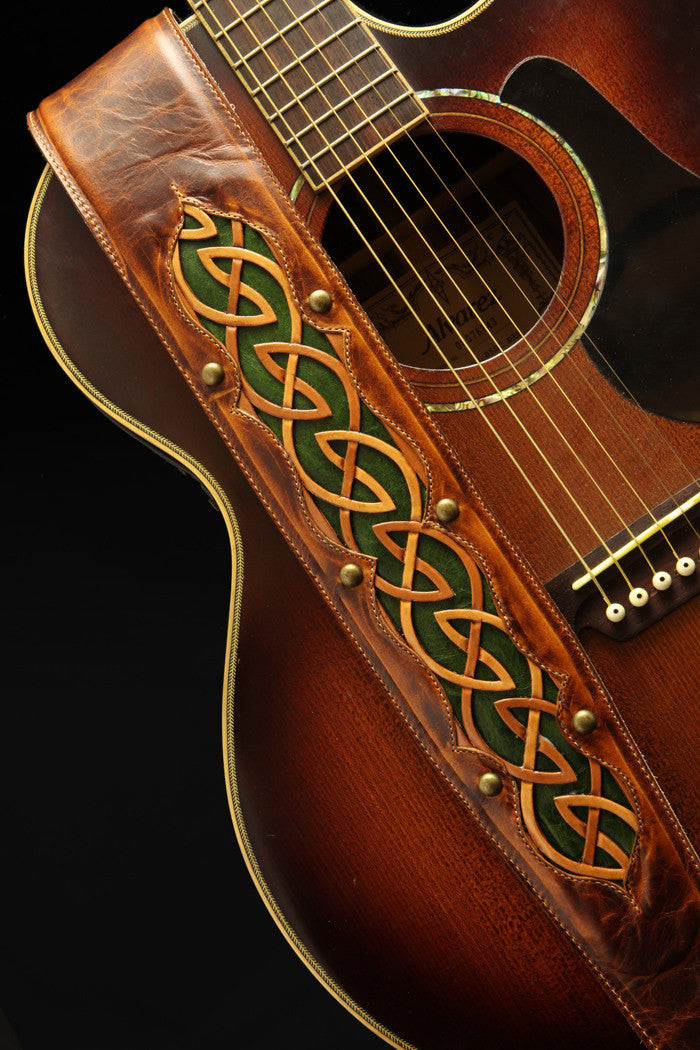 Autumn Dara Guitar Strap | Celtic Guitar Strap
