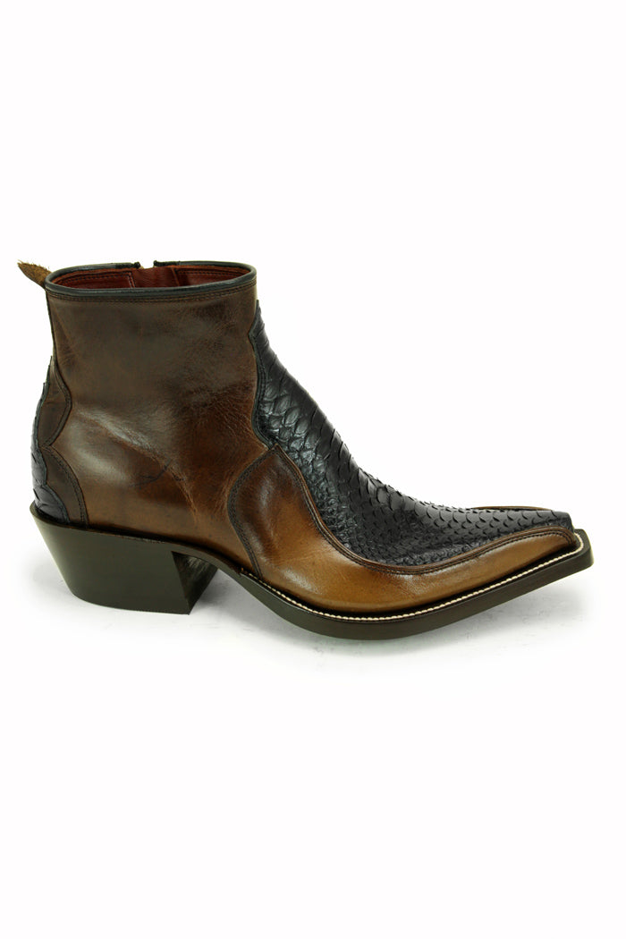 Brown with Black Python Z Boots