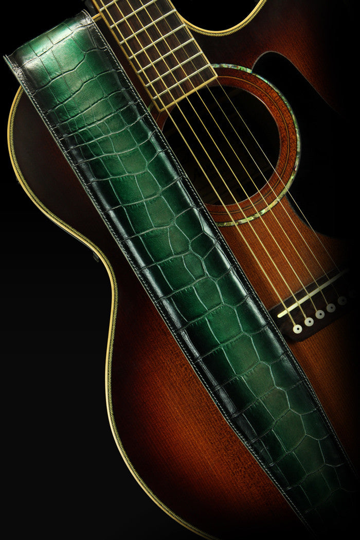 Sylvus-Green Dragon Guitar Strap