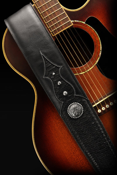 Ebony Knight Guitar Strap
