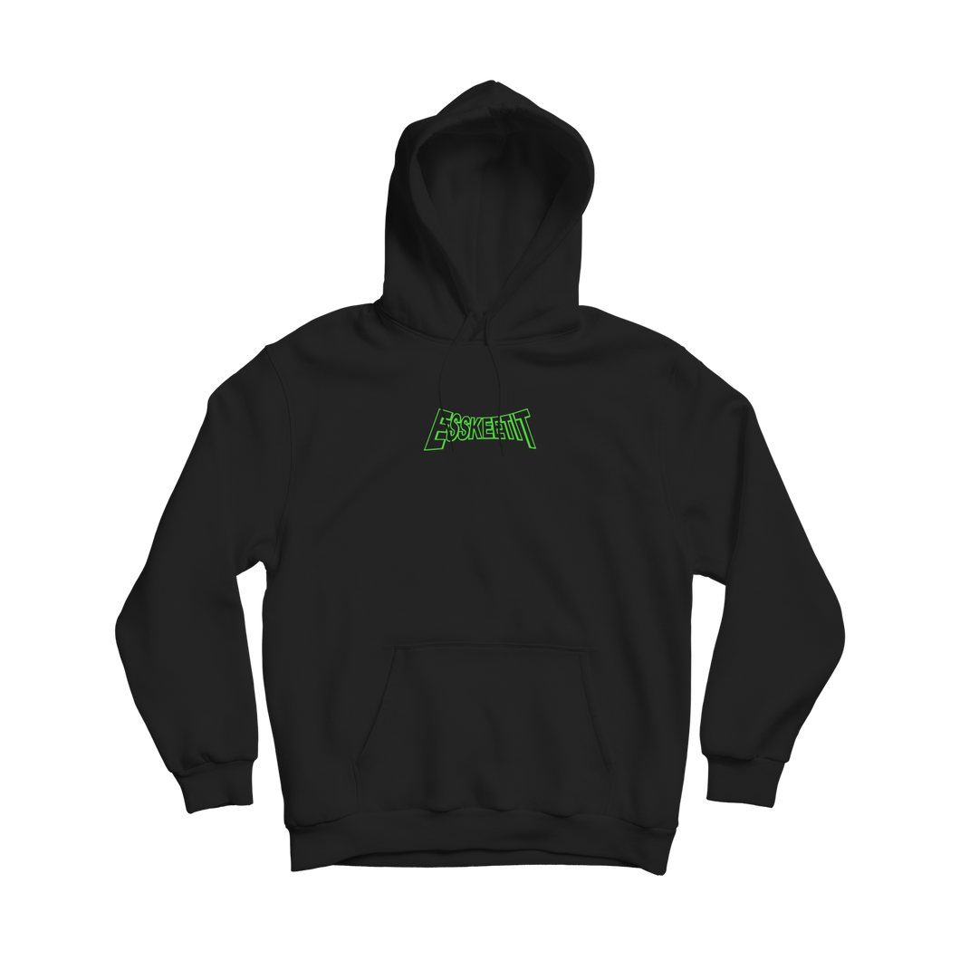 OG LOGO - BLACK HOODIE WITH GREEN LOGO