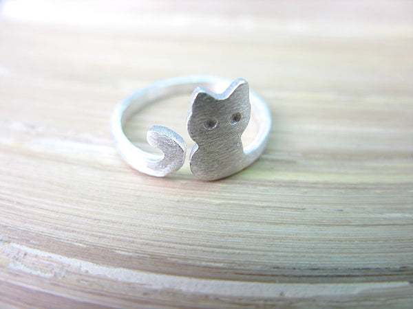 Cat Matt Look 925 Sterling Silver Ring Ring - Faith Owl