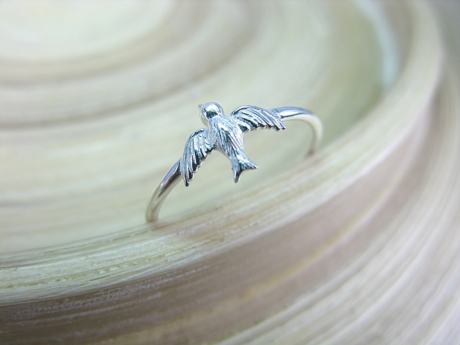 Flying Bird 925 Sterling Silver Ring Ring - Faith Owl