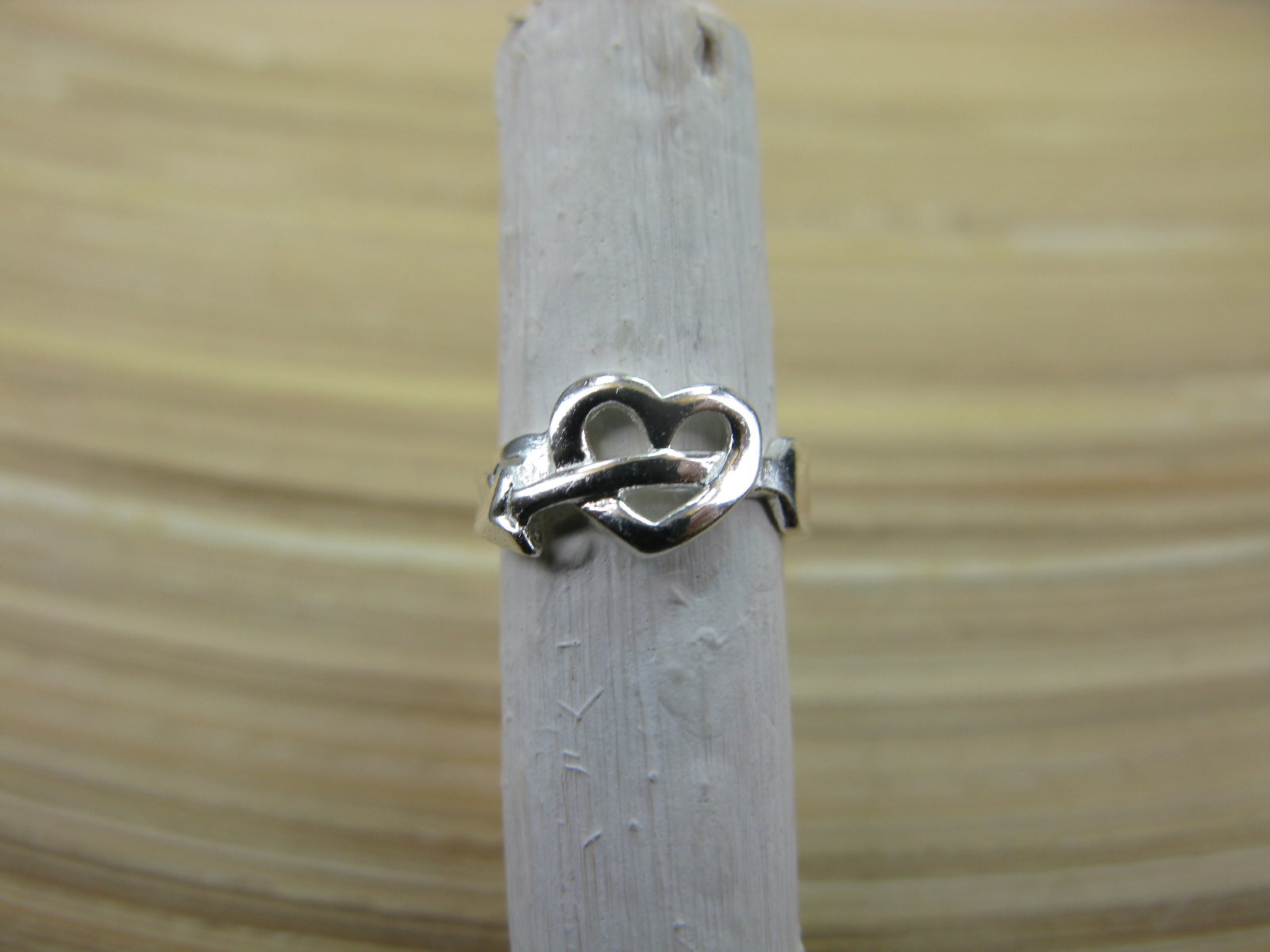 Heart and Arrow 925 Sterling Silver Ear Cuff