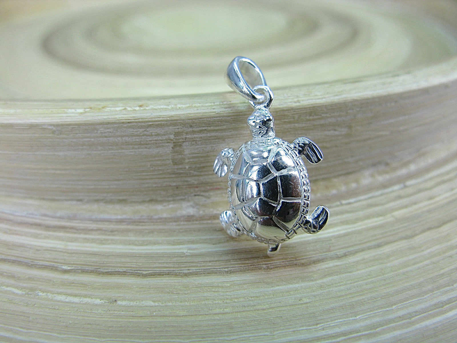 Turtle 925 Serling Silver Pendant Pendant Faith Owl - Faith Owl