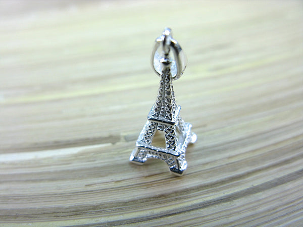 3D Eiffel Tower 925 Sterling Silver Pendant Pendant - Faith Owl