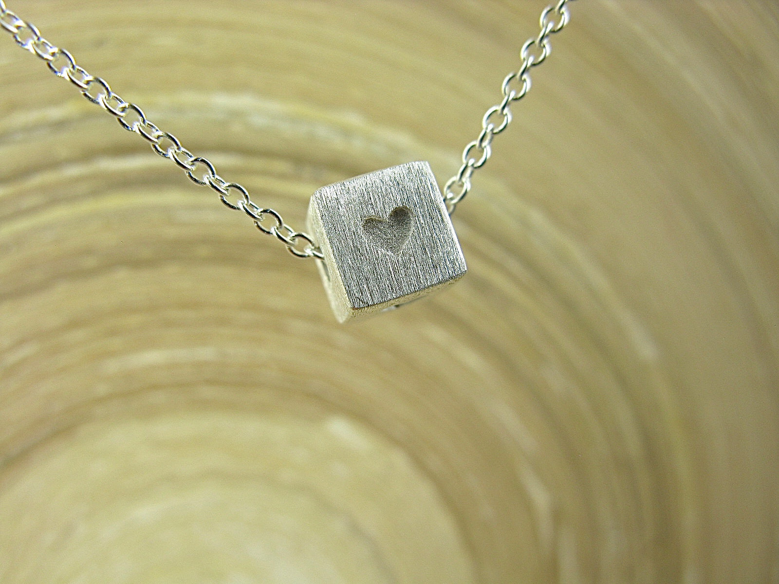 Heart Square 925 Sterling Silver Chain Necklace Necklace Faith Owl - Faith Owl