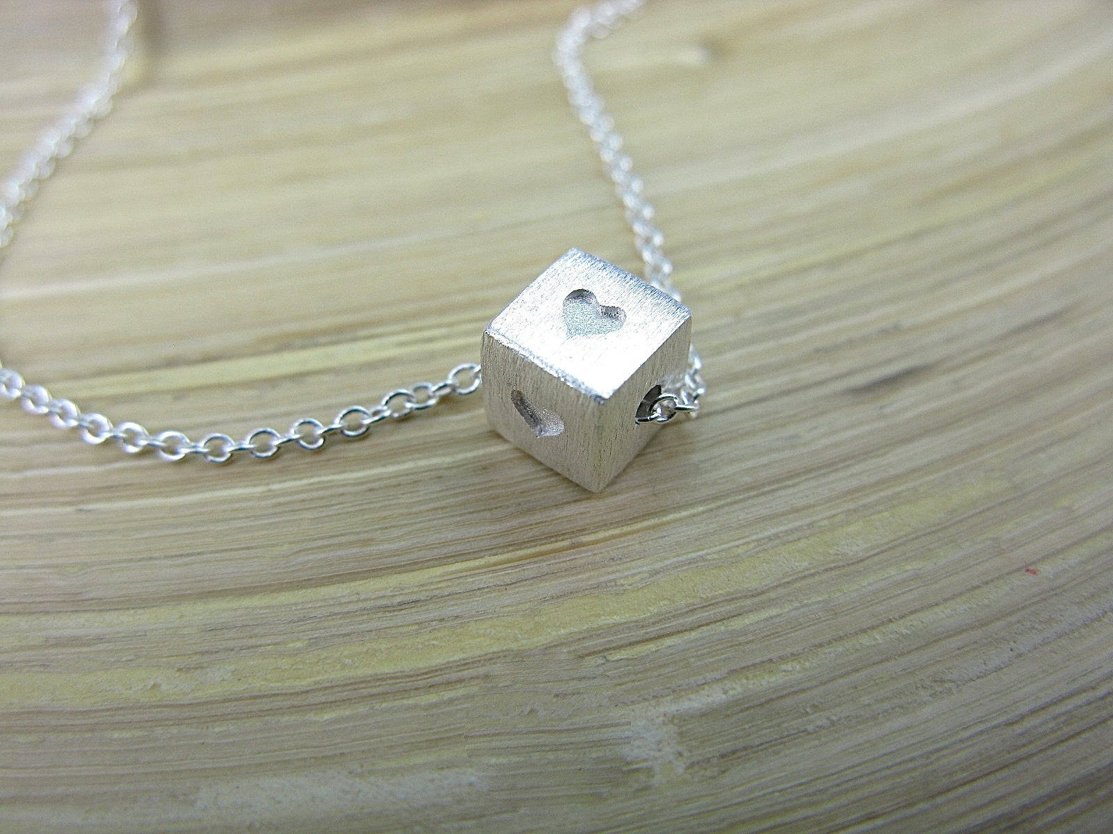 Heart Square 925 Sterling Silver Chain Necklace Necklace - Faith Owl