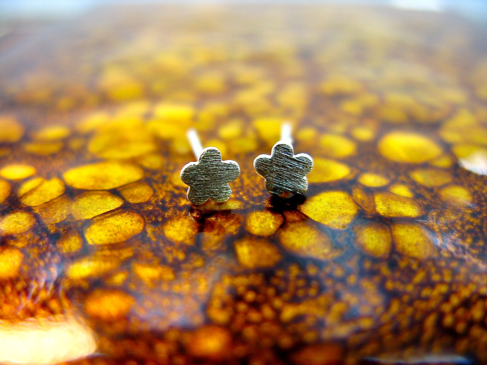 Tiny Flower 925 Sterling Silver Minimalist Stud Earrings