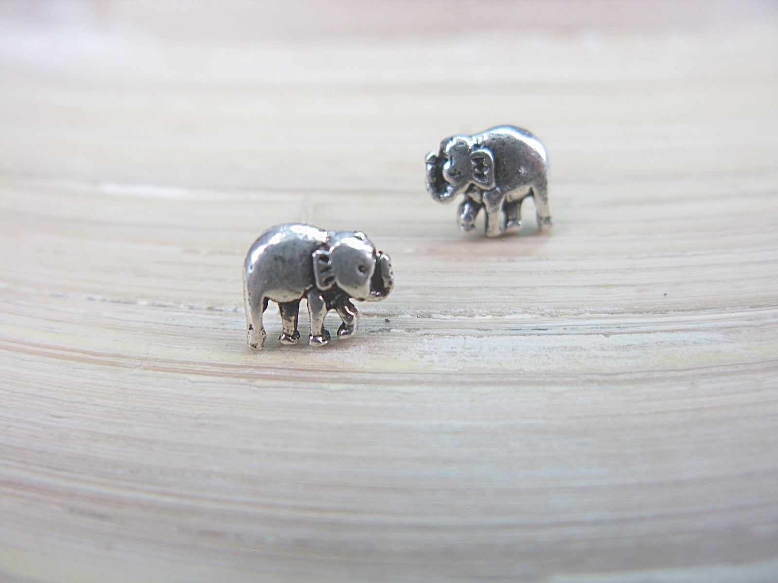 Elephant 925 Sterling Silver Stud Earrings Stud - Faith Owl