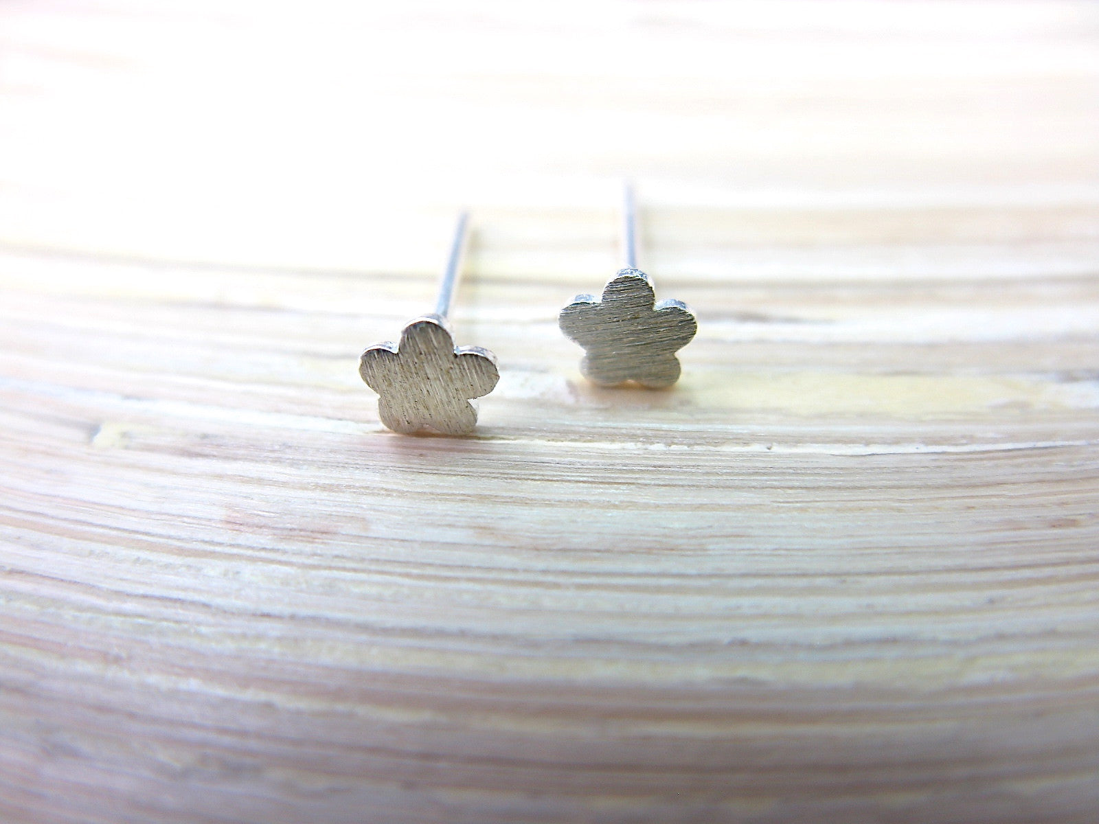 Tiny Flower 925 Sterling Silver Stud Earrings Stud Faith Owl - Faith Owl