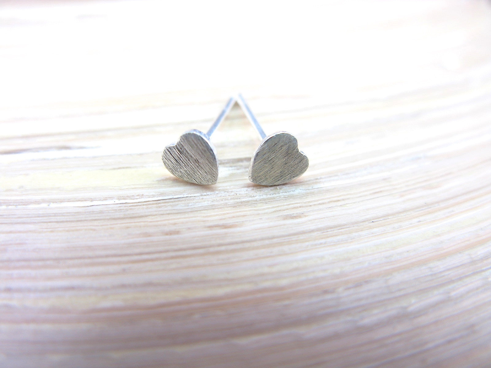 Tiny Heart 925 Sterling Silver Stud Earrings Stud Faith Owl - Faith Owl