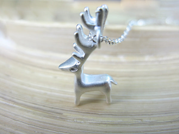 Deer 925 Stering Silver Pendant Necklace Necklace - Faith Owl