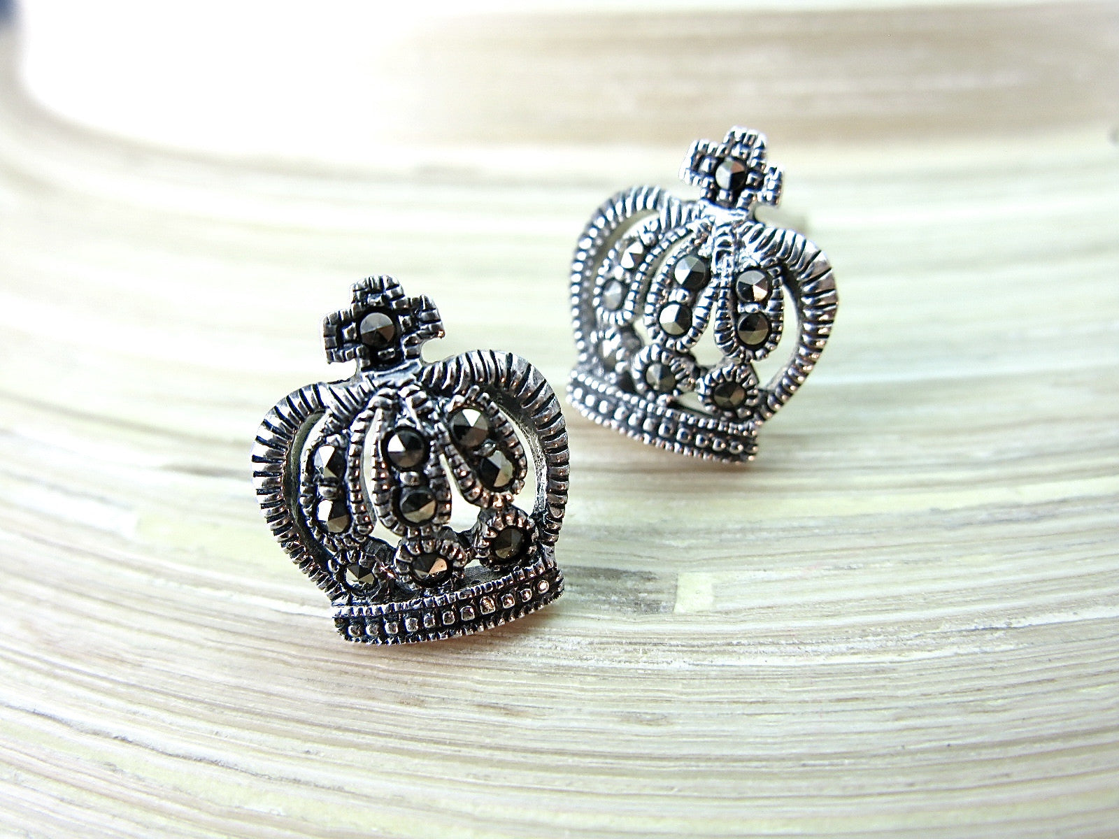 in faith look collections marcasite silver crown post img sterling earrings stud products owl vintage