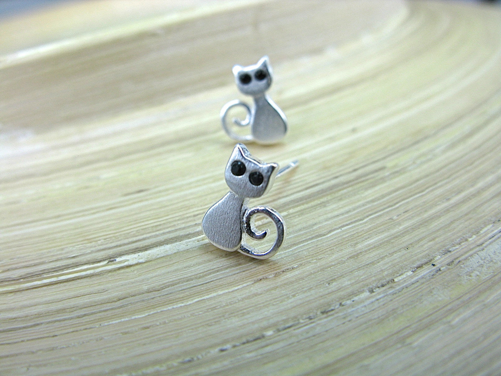Cat 925 Sterling Silver Stud Earrings Stud - Faith Owl