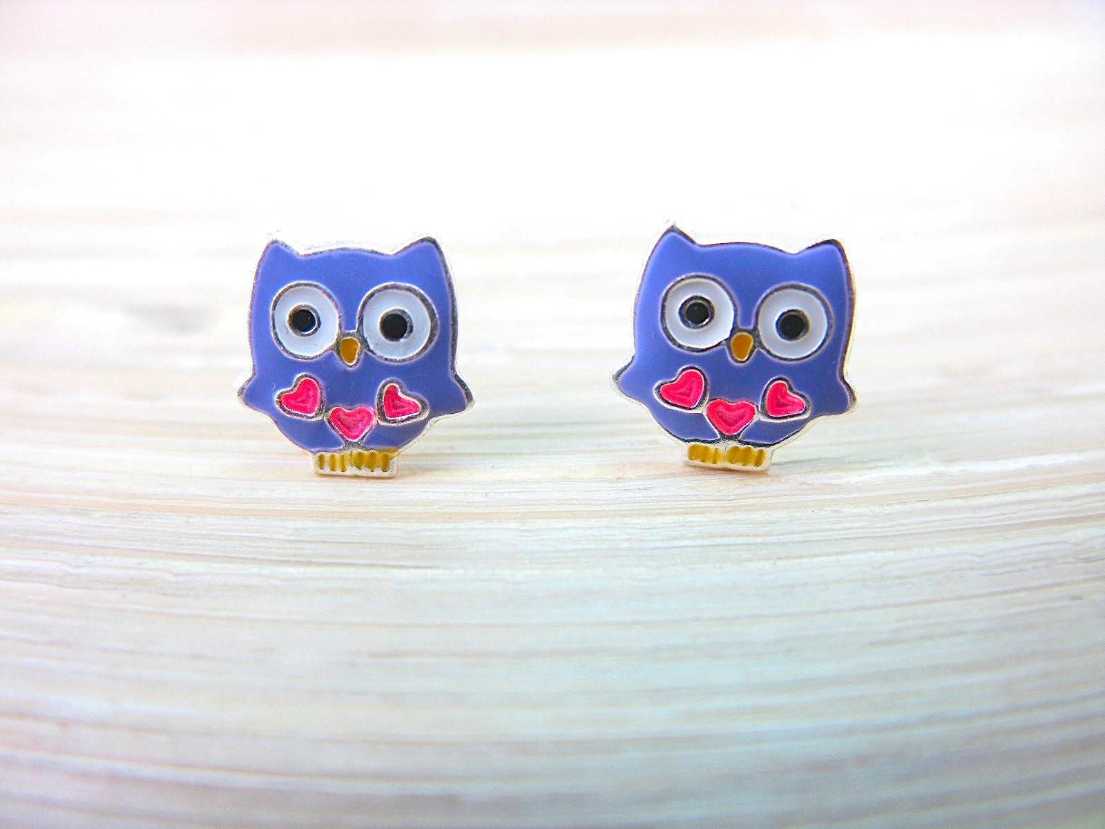 Owl 925 Sterling Silver Stud Earrings Stud Faith Owl - Faith Owl