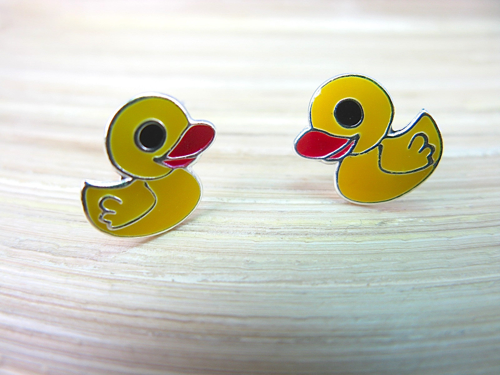 Duck 925 Sterling Silver Stud Earrings Stud - Faith Owl
