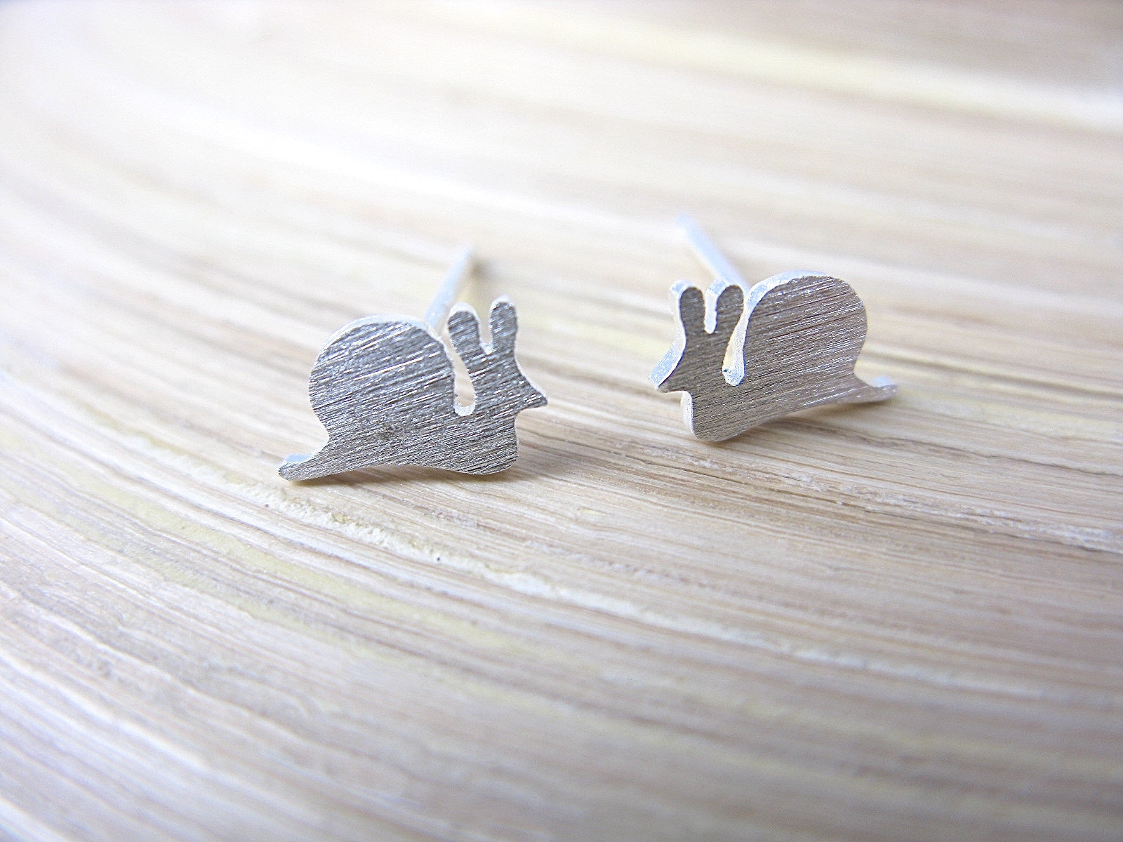 Snail 925 Sterling Silver Stud Earrings