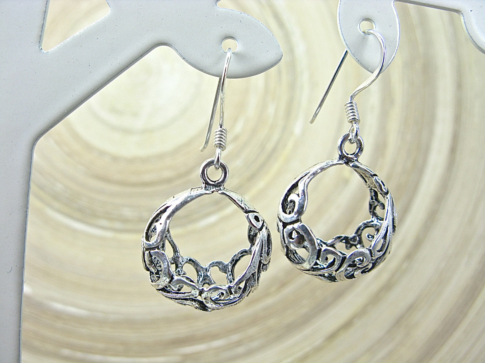 Lace Filigree Bohemian Earrings in 925 Sterling Silver  Faith Owl - Faith Owl