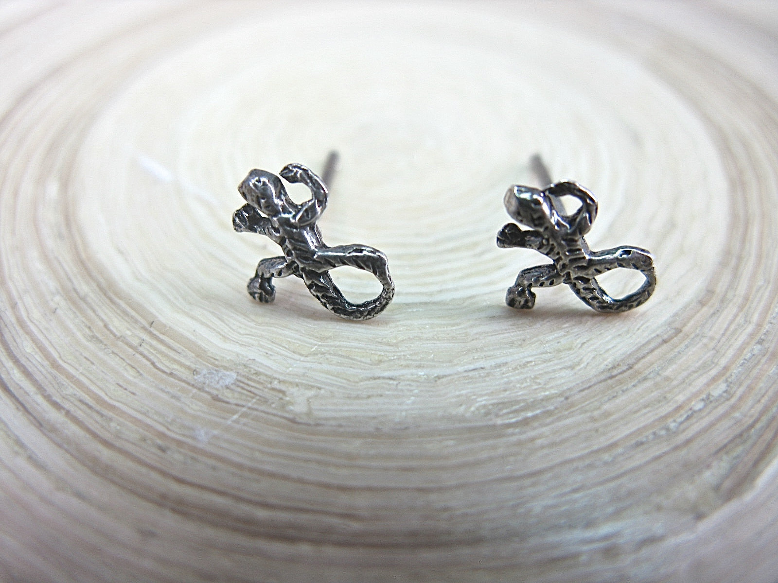 Gecko Stud Earrings 925 Sterling Silver Stud Faith Owl - Faith Owl