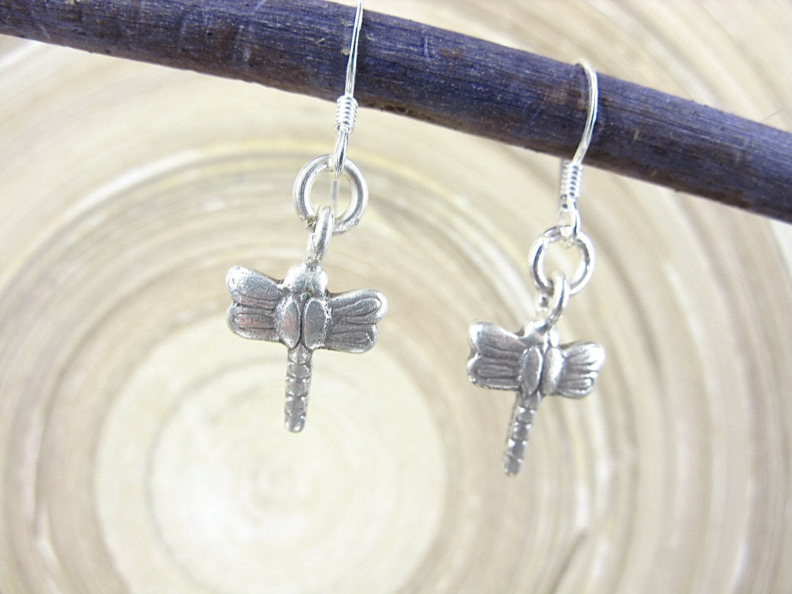 Dragonfly Tribal Dangle 925 Sterling Silver Earrings Earrings - Faith Owl